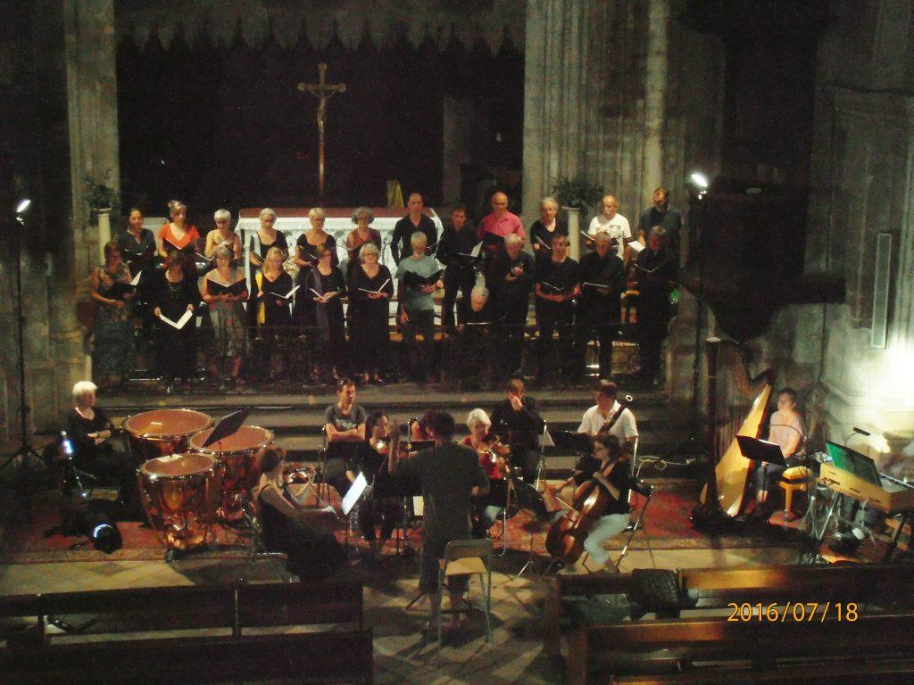 2016, cathédrale de Forcalquier, répétition avant concert